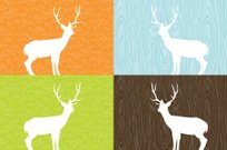 Faux Wood,Deer,Wood Grain,Antler,Wood - Material,Textured,Pattern,Vector,Backgrounds,Twig,Turquoise,Retro Revival,Orange Color,Blue,Brown,Wallpaper Pattern,Green Color,Ilustration,Illustrations And Vector Art,Nature,Design,Copy Space,Animals And Pets