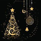 Christmas,Black Color,Gold Colored,Tree,Vector,Backgrounds,Art,Glitter,Silhouette,Humor,Abstract,Swirl,Holiday,Christmas Ornament,Computer Graphic,Star Shape,Symbol,Pine Tree,Winter,Decoration,Night,Christmas Decoration,Paintings,Space,Season,Fantasy,Image,Fun,Ilustration,Shiny,Shape,Cultures,Beautiful,Christmas,Vector Cartoons,Holidays And Celebrations,Holiday Symbols,Design,Celebration,Curve,Painted Image,Illustrations And Vector Art