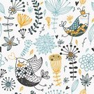 Pattern,Seamless,Backgrounds,Flower,Bird,Floral Pattern,Femininity,Blue,Old-fashioned,Springtime,Orange Color,Abstract,Leaf,Summer,Nature,Vector,Frame,Elegance,Cartoon,Branch,Multi Colored,Computer Graphic,Wallpaper Pattern,Plant,Decoration,Ornate,Color Image,Season,Blossom,Decor,Painted Image,Flowers,Nature,Birds,Animals And Pets,Vector Backgrounds,Illustrations And Vector Art