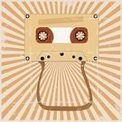 Poster,Audio Cassette,Music,Light - Natural Phenomenon,Retro Revival,Old,Dirty,Sign,Old-fashioned,Frayed,Grunge,Sun,Clip Art,Banner,Orange Color,Vector,Sound,Obsolete,Ilustration,Copy Space,Design Element,Isolated,Placard,Damaged,Circle,Shadow,Sunlight,Brown,Red,White,Rusty