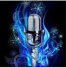 Microphone,Music,Single Voice,Backgrounds,Creativity,Fire - Natural Phenomenon,Blue,Holiday,Flower,Sound,Brilliant,Singing,Decoration,Design,Vector Cartoons,Music,Wire Mesh,Illustrations And Vector Art,Arts And Entertainment