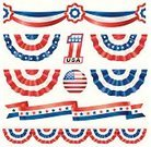 Bunting,Banner,American Flag,Flag,American Culture,Patriotism,USA,Fourth of July,Ribbon,Red,White,Blue,Decoration,Presidential Candidate,Symbol,Star Shape,Computer Graphic,Election,Design,Bow,Design Element,Badge,Silk,Award,Number 1,Flowing,Satin,Voting,Plastic,Material,Political Rally,Protest,Nomination,Government,Industry,Reflection,Travel Locations,Holidays And Celebrations