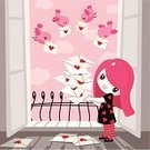 Valentine's Day - Holiday,kawaii,Valentine Card,Little Girls,Balcony,Teenage Girls,Love Note,Women,Love,Bird,Cute,Heart Shape,Letter,Loving,Greeting Card,Backgrounds,Vector,Love Letter,February,Flying,Romance,Pink Color,Ilustration,Railing,Indoors,Cloud - Sky,Sky,Cheerful,Stack,Dating,Femininity,Red,Art And Craft,Gray,Trust,Illustrations And Vector Art,Vector Backgrounds,Feelings And Emotions,coquette,Holidays And Celebrations,frivolity,smiling face,Valentine's Day,Adolescence,Copy Space,French Balcony,Cultures,Affectionate,Flirting,Square,Concepts And Ideas,Heap
