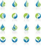 Water,Drop,Leaf,Symbol,Sign,Environment,Abstract,Icon Set,Nature,Green Color,Vector,Business,Design Element,Recycling Symbol,Design,Grass,Shape,Plant,Blue,Branding,Ideas,Ilustration,template,Identity,Label,Brand-name,Stem,Vector Icons,Nature Abstract,Illustrations And Vector Art,Nature,Nature Symbols/Metaphors