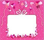 Invitation,Birthday,Pink Color,Heart Shape,Gift Box,Backgrounds,Surprise,Purple,Gift,Billboard,Congratulating,Red,White
