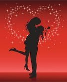 Couple,Kissing,Dancing,Silhouette,Heterosexual Couple,Valentine's Day - Holiday,Romance,Heart Shape,Love,Men,Back Lit,Shadow,Holding Hands,Women,Rose - Flower,Flower,Shoe,Shiny,Single Flower,Outline,Flirting,Dating,Black Color,Red,Vector,People,Star Shape,Clip Art,Ilustration,Backgrounds,Adult,Bonding,Valentine's Day,Vector Backgrounds,Togetherness,People,Illustrations And Vector Art,Shape,Holidays And Celebrations,Long Hair,Leaf