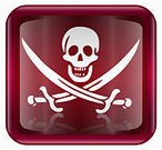Pirate,Pirate Flag,Interface Icons,Sword,Symbol,Elegance,Skull and Crossbones,Threats,Design,Red,Dark,Isolated,Danger,Saber,Knife,Computer Bug,Ilustration,Animal Bone,Computer Icon,Single Object,Warning Symbol,Human Bone,swashbuckler,Reflection,Square Shape,No People,Style,Warning Sign,vinous,Isolated Objects,Shadow,Square,Turquoise,Glass - Material,Shiny,White