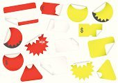 Labeling,Label,Badge,Peeled,At The Edge Of,Hello,Euro Symbol,Price,Store,Red,European Union Currency,Curve,Simplicity,Circle,Yellow,Vector,Sale,Shape,Sticky,Finance,Triangle,Promotion,Angle,Plastic,Rectangle,White,Retail,Dollar,Dollar Sign,Isolated,Retail/Service Industry,Illustrations And Vector Art,Isolated Objects,Industry,Ilustration,Blank