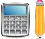 Calculator,Symbol,Mathematical Symbol,Vector,Pencil,Counting,Keypad,Number,Percentage Sign,Ilustration,Isolated,Finance,Sign,Business,Push Button,Technology,Division,Multiplication,Single Object,Subtraction,Yellow,Silver - Metal,Business Symbols/Metaphors,Silver Colored,Vector Icons,Equipment,Business,Illustrations And Vector Art,Objects/Equipment,Banking,Household Objects/Equipment
