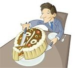 Pie,Slice,Cake,Cutting,Businessman,Humor,Large,egoist,Percentage Sign,Picking Up,Part Of,Making Money,Finance,Men,Food,Over Eating,Holiday,Meal,Cream,Dessert,Illustrations And Vector Art,Eating,Vector Cartoons,Smiling,Isolated,Accuracy,White,Success,Suit,Sweet Food,Vector,Greed,Kitchen Knife,Business,Ilustration,Table,Symbol,Food And Drink,Reaching,Cheerful,Business Symbols/Metaphors,Entertainment,Love of Money