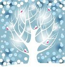 Christmas,Winter,Bare Tree,Tree,Bird,Holiday,Forest,Branch,Greeting Card,Silhouette,Snow,Backgrounds,Vector,White,Blue,Tranquil Scene,Design,Nature,Woodland,Ilustration,Season,Outdoors,Weather,Painted Image,Winter,Vector Backgrounds,Illustrations And Vector Art,Cold - Termperature,Nature