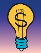 Light Bulb,Currency,Innovation,Savings,Inspiration,Power,Fuel and Power Generation,Finance,Making Money,Resourceful,Electricity,Ideas,Energy,Breaking New Ground,Power Supply,Dollar Sign,Lighting Equipment,Sign,Power Line,Symbol,Concepts And Ideas,Illustrations And Vector Art,Environment,Vector,Power,Ilustration