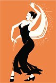 People,Motion,Passion,Dancing,Spain,Flamenco Dancing,Cultures,Spanish Culture,One Person,Adult,Young Adult,Illustration,Women,Young Women,One Young Woman Only,Only Women,One Woman Only,Dancer,Vector,Adults Only,Arts Culture and Entertainment,Illustrations And Vector Art,
