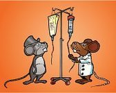 IV Drip,Mouse,Doctor,Vector,Medicine,Personnel,Medical,Vector Cartoons,Humor,Healthcare And Medicine,Illustrations And Vector Art,Medicine And Science