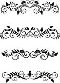 Pattern,Old-fashioned,Vector,Isolated,Nature,Flowers,Design Element,Isolated Objects,Flower,Floral Pattern,Growth,Black Color,Design