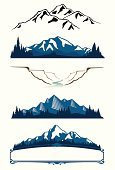 Mountain,Mountain Range,Vector,Mountain Peak,Silhouette,River,Snow,Tree,Canyon,Outline,Pine Tree,Mountain Climbing,Ilustration,Snowcapped,Non-Urban Scene,Wild West,Old-fashioned,Hill,Clip Art,Extreme Terrain,Majestic,Nature,Design,Rural Scene,Scenics,Ravine,Digitally Generated Image,Design Element,Scroll Shape,Outdoors,Curve,Victorian Style,Blue,Illustrations And Vector Art,Travel Locations,Nature