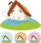 Flood,House,Home Interior,Insurance,Water,Cartoon,Residential Structure,Damaged,Vector,Construction Industry,Roof,Housing Problems,Risk,Mascot,Sinking,Mansion,SOS,Danger,Natural Disaster,Disaster,Confusion,Overflowing,Concepts,Rescue,Residential District,Destruction,Ideas,Architecture,Real Estate,Vector Cartoons,Architecture And Buildings,Clip Art,Built Structure,Ilustration,Chimney,Grass,Homes,Concepts And Ideas,Isolated,Computer Graphic,Illustrations And Vector Art,Problems