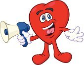 Heart Shape,Talking,Mascot,Characters,Megaphone,Happiness,Laughing,Cartoon,Cheerful,Humor,Confidence,Valentine's Day - Holiday,Love,Bullhorn,Message,Concepts And Ideas,Illustrations And Vector Art,Positive Emotion,Vector Cartoons,Fun,Ilustration,Joy,Ecstatic
