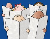 Child,Reading,Newspaper,Choir,Singing,Book,Education,The Media,Group Of People,Business,People,Bulletin Board,Text,Looking,Global Communications,Singer,Stock Market Data,Document,Vector,Advice,Learning,Ilustration,Communication,Leather,Information Medium,Concepts,Data