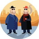 Gangster,Gang Member,Mafia,Organization,Italian Culture,Sunglasses,Organized Crime,Crime,Vector,Italy,Toughness,Organized Group,Criminal,Modern Rock,Hat,Backgrounds,Ilustration,Striped,Gun,Cigarette,Weapon,People,Business People,Illustrations And Vector Art,Business,Town,Urban Scene