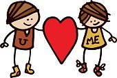 Love,Valentine's Day - Holiday,Cartoon,Heterosexual Couple,Romance,Women,Vector,Loving,Men,Cute,Love At First Sight,Heart Shape,Doodle,Ilustration,Two People,Sketch,Bonding,Drawing - Art Product,Cheerful,Happiness,Holding,Smiling,Togetherness,hand drawn,Red,People,Valentine's Day,Holidays And Celebrations,Illustrations And Vector Art,Isolated On White,Dating