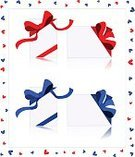 Gift,Ribbon,Greeting Card,Heart Shape,Postcard,Bow,Frame,Red,Box - Container,Bow,Package,Gift Box,Holidays And Celebrations,Decoration,Industry,Isolated Objects,Retail/Service Industry,Wrapping Paper,Blue,Vertical,Horizontal