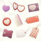 Label,Valentine's Day - Holiday,Luggage Tag,Heart Shape,Price Tag,Gift Tag,Love,Patch,Frame,Banner,Nameplate,Leather,Backgrounds,Name Tag,Set,Blank,Rubber Band,String,Design Element,Rectangle,Vector Icons,Copy Space,Vector Backgrounds,Valentine's Day,Holidays And Celebrations,Illustrations And Vector Art