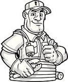 Manual Worker,Thumbs Up,Cable,Work Glove,Electric Plug,Work Tool,Extension Cord,Uniform,Occupation,Working,Confidence,Hat,Happiness,Smiling,Vector Cartoons,Black And White,White Background,Industry,Illustrations And Vector Art,Construction,Isolated,Equipment,Design,Cheerful