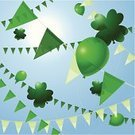 Pennant,Flag,St. Patrick's Day,Traditional Festival,Republic of Ireland,Vector,Party - Social Event,Green Color,Holiday,Celtic Culture,Irish Culture,Decoration,Celebration,Holidays And Celebrations,Holiday Backgrounds,Illustrations And Vector Art,Vector Backgrounds,Ilustration,Saint,Northern Ireland,Balloon
