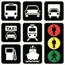 Bus,Public Transportation,Symbol,Stoplight,Train,Computer Icon,Sign,Transportation,Icon Set,Silhouette,Taxi,Road Sign,Car,Travel,People Traveling,Mode of Transport,Industrial Ship,Sailing Ship,Passenger Ship,Business Travel,Gasoline,Vector,Illustrations And Vector Art,Vector Icons,Transportation,Travel Locations