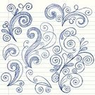 Doodle,Swirl,Sketch,Notebook,Drawing - Art Product,Teen Pop,Hand-drawn,Scribble,Incomplete,Scroll Shape,Design Element,Fun,Vector,Cute,Pencil Drawing,Ilustration,Lined Paper,Vector Ornaments,Illustrations And Vector Art