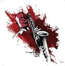 Jazz,Saxophone,Saxophonist,Musical Instrument,Music,African Descent,Drawing - Art Product,Vector,Playing,Ilustration,Pencil Drawing,Music,Arts And Entertainment,Single Object,Sound,Illustrations And Vector Art