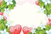Valentine's Day - Holiday,Shiny,Flower,Computer Graphic,Day,Floral Pattern,Ornate,Color Image,Ilustration,Honeymoon,Holidays And Celebrations,Holiday Backgrounds,Heart Shape,Symbol,Vector,Red,Illustrations And Vector Art,Valentine's Day,Vector Florals,Branch,Leaf,Love,Shape,Image,Backgrounds