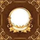 Picture Frame,Frame,Gold,Gold Colored,Circle,Ornate,Floral Pattern,Retro Revival,History,Plate,Corner Marking,Old,Design,Style,Vector,Classic,Brown,Computer Graphic,Seamless,Classical Style,Swirl,Award,Backgrounds,Wealth,Scroll Shape,Elegance,Decoration,Luxury,Pattern,Symbol,Color Image,Shiny,Placard,Vignette,Leaf,Painted Image,Wallpaper Pattern,Vector Cartoons,Vector Backgrounds,Arts Abstract,Arts And Entertainment,Illustrations And Vector Art