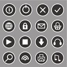 Computer Icon,Internet,E-commerce,Vector,Wireless Technology,Monochrome,Circle,Illustrations And Vector Art,Headphones