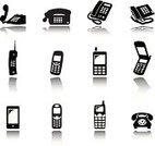 Mobile Phone,Telephone,Silhouette,Computer Icon,Vector,Equipment,On The Phone,Computer,Ilustration,Telephone Receiver,Technology,Connection,Communication,Electronics Industry,Image,Talking,Wireless Technology,Set,Technology,Vector Icons,Vector Backgrounds,Electronics,Illustrations And Vector Art