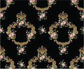 Pattern,Old-fashioned,Nobility,Crown,Flower,Ornate,Antique,Medieval,Floral Pattern,Beauty,Backgrounds,Scroll Shape,Elegance,Ribbon,Vector Florals,Decoration,Illustrations And Vector Art,Ilustration,Deco,Vector,Wealth