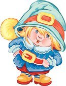 Gnome,Fairy Tale,Success,Child,Ilustration,Costume,Childhood,New,People,Vector Cartoons,Mystery,Illustrations And Vector Art,Magic,Fine Art Portrait,Vector,Holidays And Celebrations,Christmas,Careless,Miracle,Craft,Tracery,Abundance
