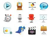 Presentation,Symbol,Computer Icon,slideshow,Photographic Slide,Podium,Icon Set,Presenter,keynote,Play,Movie,Business,Interface Icons,Stopwatch,Projection Equipment,Sermon,Data,Chair,Film,Clock,Timer,Speech,Bird,Blue,Seat,Microphone,Office Chair,Pie Chart,Film Reel,Movie Clapper,Vector Icons,Illustrations And Vector Art,Business,Business Meetings