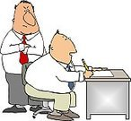 Cartoon,Office Interior,Business,Manager,Humor,Working,Desk,Business,Fun,Foreman,Men,Male