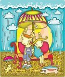 Flood,Cartoon,Couple,Rain,Child,Umbrella,Parasol,Weather,Valentine Card,Ilustration,Cute,Valentine's Day - Holiday,Heterosexual Couple,Embracing,Happiness,Vector,Animated Cartoon,Humor,Electric Lamp,Fun,Hare,Multi Colored,Flirting,Raincoat,Pair,Light Bulb,Community,Friendship,Season,Weather Shelter,Wet,Romance,Cloudscape,Love At First Sight,Love,Childhood,Holidays And Celebrations,Valentine's Day,Animals And Pets,Loving,Drawing - Art Product,Outdoors,Cloud - Sky,Adolescence,Affectionate,Illustrations And Vector Art,Baby Animals,Vector Cartoons,Overcast,Raindrop,Togetherness,Young Animal,Computer Graphic,Bonding,Dating
