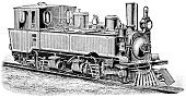 Train,Engraving,Old,Steam Train,Steam Engine,Engraved Image,Steam,Old-fashioned,Railroad Track,Germany,Industrial Revolution,Obsolete,Mode of Transport,narrow-gauge,Transportation,Engineering,Engine Type,Ship Funnel,German Culture