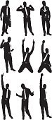 Silhouette,Businessman,Business,Celebration,Gesturing,Fist,Male,Vector,Action,Arms Raised,Holding,Tie,Outline,Excitement,Kneeling,Enjoyment,Black Color,Looking At Camera,Hand Raised,Standing,Exhilaration,Computer Graphic,White Background,Ilustration,Digitally Generated Image,Black And White,Posing,Isolated On White,Vector Graphics,Clip Art,Achievement,Arms Outstretched,Multiple Image
