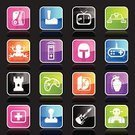 Video Game,Symbol,Robot,Computer Icon,Icon Set,Joystick,Computer Software,Cartoon,Frog,Hobbies,Control,CD-ROM,Remote Control,Castle,CD,Guitar,Entertainment,Pink Color,Work Helmet,Green Color,Hand Grenade,First Aid Kit,Ilustration,White,Color Gradient,Multi Colored,Illustrations And Vector Art,Tennis,Shiny,Blue,Orange Color,Design Element,Purple