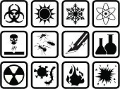 Chemical,Rebellion,Biohazard Symbol,Symbol,Rusty,Safety,Heat - Temperature,Bomb,Chemistry,Danger,Computer Icon,Explosive,Radiation,flammable,Virus,Fire - Natural Phenomenon,Conflict,Sign,Warning Symbol,Warning Sign,Icon Set,Corrosive,Frozen,Electricity,Rust Fungus,Radioactive Warning Symbol,Shape,Vector,electrostatic,Design,Black Color,Ilustration,Medicine And Science,Pest,Concepts And Ideas