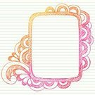 Notebook,Doodle,Frame,Lined Paper,Teen Pop,Incomplete,Sketch,Scribble,Swirl,Vector,Hand-drawn,Cute,Drawing - Art Product,Pencil Drawing,Fun,Scroll Shape,Ilustration,Vector Ornaments,Illustrations And Vector Art,Design Element