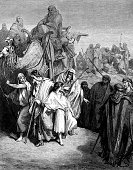 Joseph,Slavery,Brother,Engraving,Bible,Well,Camel,Men,Desert,Gustave Dore,Engraved Image,Clothing,Infidelity,Hiking Pole,Old,History,Cultures,People,Catholicism,Spirituality,Period Costume,Old Testament,Religious Scene,Obsolete,Facial Hair,Religion,Religious Event,Looking,Religious Images,Religious Offering,Robe,Senior Men,Group Of People,Selling,Christianity,Religious Illustration,Mature Men,Concepts And Ideas,Male,Religion,Senior Adult
