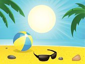 Beach Ball,Sunglasses,Beach,Vector,Ilustration,Backgrounds,Summer,Ball,Vacations,Sunbeam,Palm Tree,Animal Shell,Pebble,Sun,Season,Leaf,Tree,Sea,Sunlight,Tropical Climate,Sand,Vector Backgrounds,Travel Destinations,Holidays,Stone,Travel Locations,Tourist Resort,Illustrations And Vector Art,Beaches