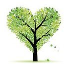 Tree,Heart Shape,Love,Green Color,Valentine's Day - Holiday,Vector,Leaf,Art,Shape,Swirl,Nature,Plant,Black Color,Painted Image,Ornate,Branch,Outline,Curve,Image,Decoration,Bush,Valentine's Day,Vector Cartoons,Nature Abstract,Holidays And Celebrations,Nature,Illustrations And Vector Art