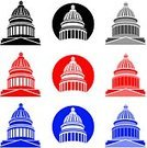 Capitol Building,State Capitol Building,Washington DC,Government,Dome,Symbol,Dome,Computer Icon,USA,Federal Building,Congress,Politics,Capitol Hill,Vector,Election,Ilustration,Blue,Senate,Red,Simplicity,Black Color,Utah State Capitol,Political Process,Capitol Dome,Grayscale,one color